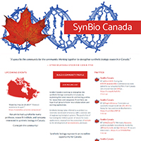 SynBio Canada: Fostering the Canadian Synthetic Biology Community