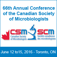 Annual Conference of the Canadian Society of Microbiologists – Toronto, June 12 to 15